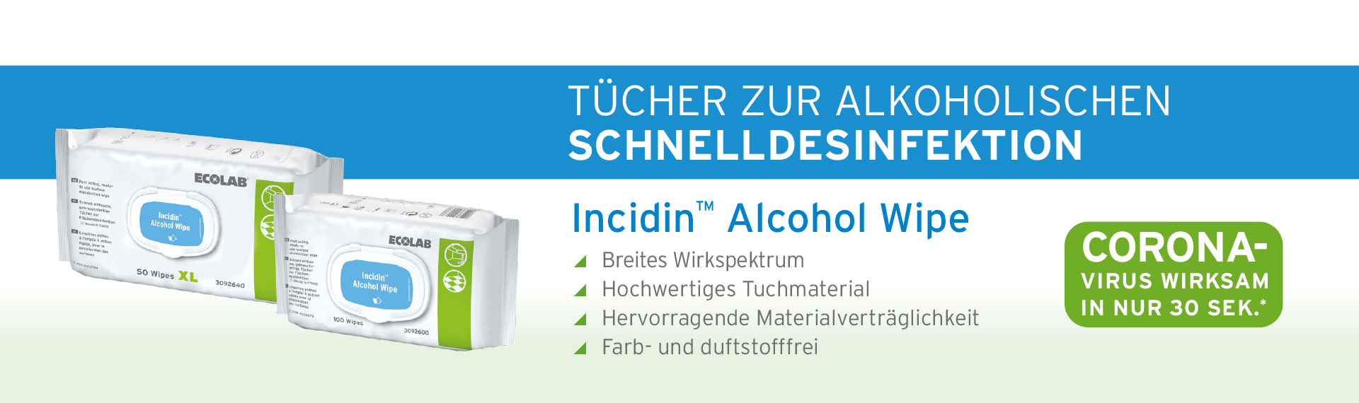Incidin Alcohol Wipe